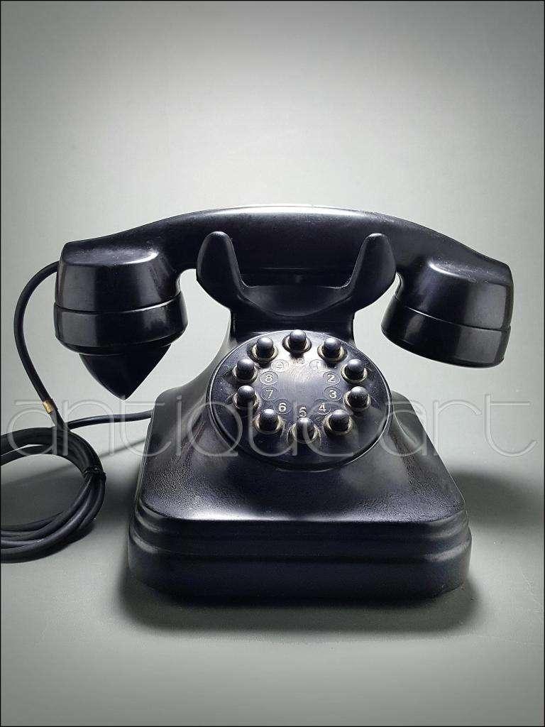 A64 Telefono Ericsson Antiguo Baquelita Decoracion Vintage 0