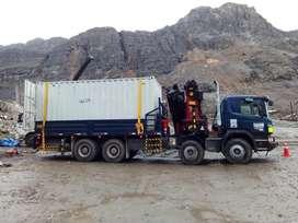 Servicio de alquiler de camión grúa de 6 TN,  12TN, 18TN, 25TN y 36 TN.