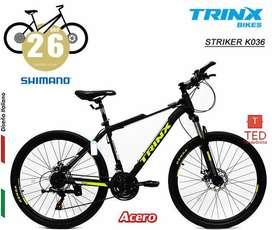 Bicicleta STRIKE K036 ARO26 verNeg - Shimano