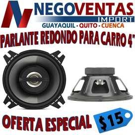 PARLANTES REDONDOS PARA CARRO DE 4 PULGADAS