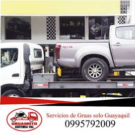 Servicio de gruas plataforma autocargable alquiler wincha para auto carro vehiculo en Guayaquil Grua dolly patines