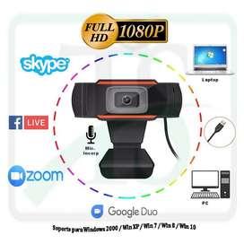 Cámara Web Webcam 1920x1080p Full Hd Con Microfono Usb Zoom