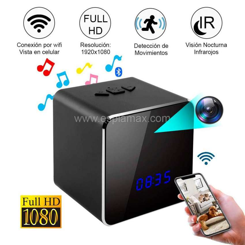 Altavoz (Bocina) Espía Full HD con Bluetooth y Wifi / Reproductor 0