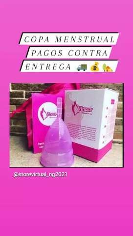 Copa menstrual de silicona médica hipoalergénica