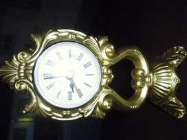 reloj decorativo de bateria gruesa pequeña en hierro pesado de 21cm