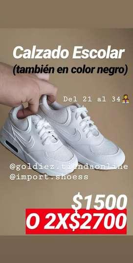 Zapatillas escolares Nike colegio Calzado Tenis Reforzadas para niños y niñas los más chicos