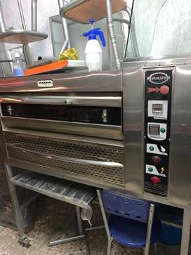 !!! GANGA !!! Vendo horno de 2 latas MAQUIN a gas electronico en acero usado y negociable