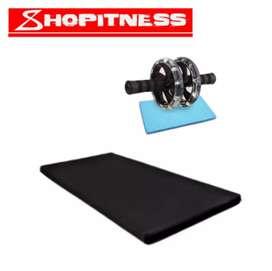 Colchoneta para gimnasia + rueda abdominal envío gratis
