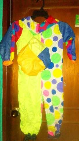 Disfraz de Payaso Niño Talla 6