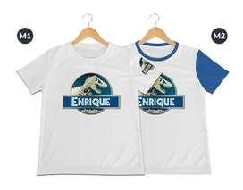 camiseta jurassic word para niños