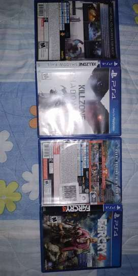 Farcry 4 y Killzone shadow fall ambos en 130