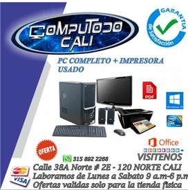 VENTA DE PC COMPLETO USADO CON GARANTIA MAS IMPRESORA