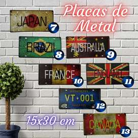 Placas Metalicas Decorativas