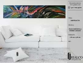 Cuadro Oleo Original. Abstracto. 178 X 58 Cm
