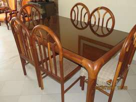 VENDO Comedor 6 puestos en madera Guayacán usado