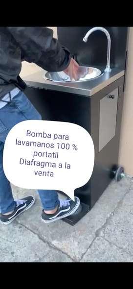 Bomba para lavamanos portatil diafragma,