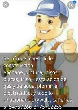 Se ofrece maestro de construcion