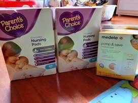 Protectores de lactancia y bolsas para lactancia