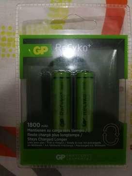 Baterías recargables de 1800 Mha