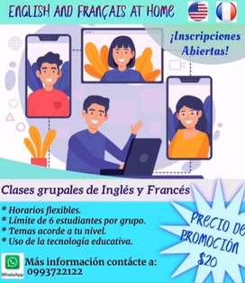 Curso de Inglés y Francés