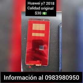 Últimos 5 displays de Huawei y7 2018