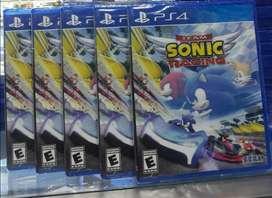 Sonic Racing Ps4 Nuevo Sellado Stock