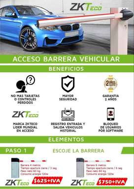 Acceso Vehicular Barras Palancas. ZKTECO. QUito
