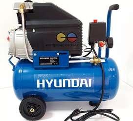 Hyundai Compresor 24 Lts 2 Hp 115 Psi 198 Lts/min 8 Bar