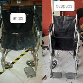 Mantenimiento y Reparación de sillas de oficinas, peluquería, barbería, sillas de ruedas y mas