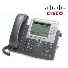 TELEFONO IP CISCO UNIFIED CP-7962G PARA VoIP PROTOCOLOS SIP/SCCP DOS PUERTOS 10/100 PoE PANTALLA A COLOR DE 5