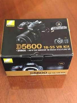 OFERTA!!! Cámara Nikon D5600 Kit 18-55 Nuevas!!! $43000