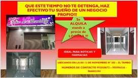 SE ALQUILA STANDS A PRECIOS DE LOCURA
