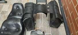 Alforjas en cuero usadas