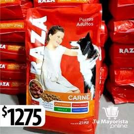 Alimento Balanceado Raza 21kg $1275