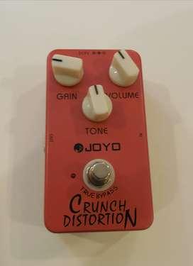 Pedal de guitarra joyo crunch distortion/overdrive no Boss, Rat, mxr, electroharmonix