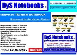 SERVICIO TECNICO NOTEBOOK NETBOOK LAPTOP EXCLUSIVO