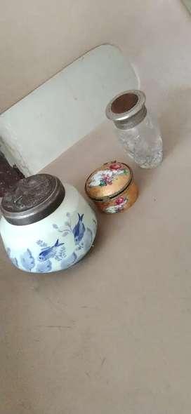 Vendo tres recipientes antiguos de colección