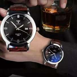 Reloj Psicología Hombre Cuero Análogo Ilusion Of Time Fechero
