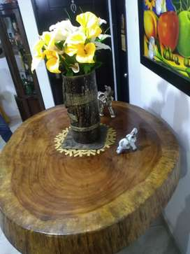 Hermosa mesa rústica en roble macizo