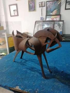 Escultura de caballo  hierro al oxido