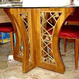 Magnifica mesa de comedor oval diseño retro vintage 60s americana escandinava