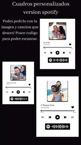 Cuadros personalizados Spotify