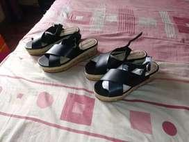 Sandalias negras tallas 39 nuevas