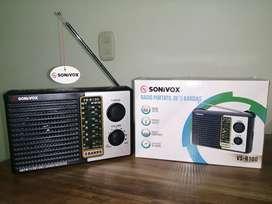 Parlante-Radio AM/FM 5 Bandas Sonivox VS-R100