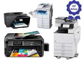Mantenimiento y Venta de Suministros para Impresoras. y Plo