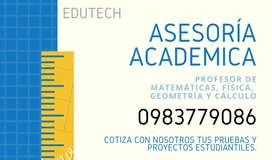 Profesores particulares cálculo, física y geometría.