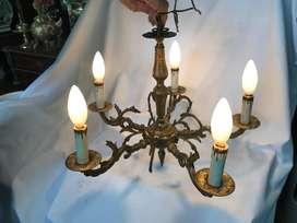 LAMPARA DE TECHO 5 LUCES EN BRONCE PRECIO X C/U