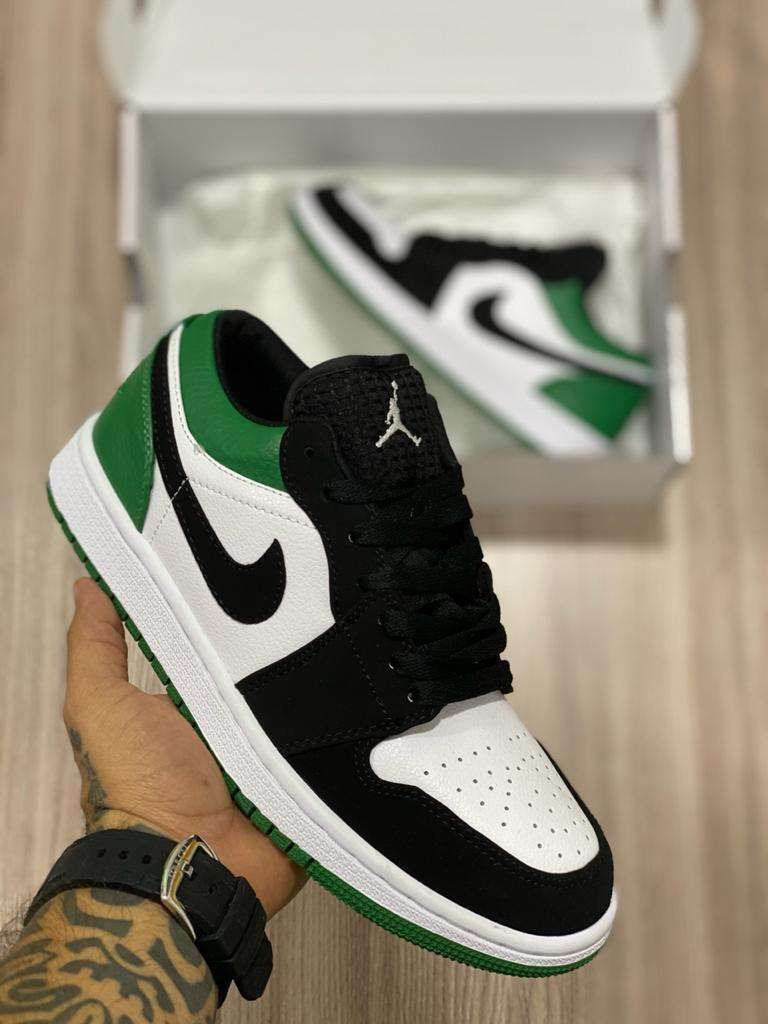 Tenis Nike Jordan 1 Verde Blanco Negro Envio Gratis 0