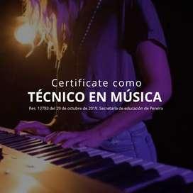 Certifícate como Técnico Música