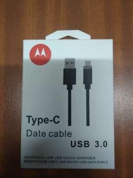 Vendo cable USB tipo c original de Motorola. Precio sujeto a cambio dólar.